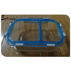 Glass food contianer with 2 compartments with detachable lids