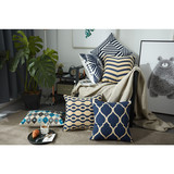 wholesale custom printed linen cushion cover 50x50
