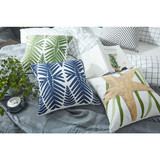 Fashion hot style super soft 3d tree linen pillow case custom linen cushion cover