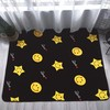 New dot design flannel fleece memory foam floor mat