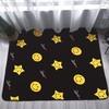 New dot design flannel fleece memory foam floor mat