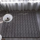 Anti-slip flannel fleece bedroom floor mat with PVC back