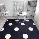 anti-slip flannel fleece bath mat