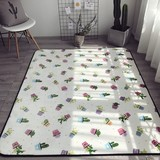 Microfiber flannel fleece waterproof door mat