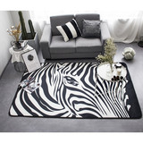 Super soft flannel fleece anti-fatigue plush mat with leave pattern