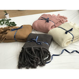Tassel knit sofa leisure blanket
