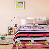 Animal printed Bull Terrier Soft Warm Plush Flannel coral polar fleece Bedding Flat Double Sleep Blanket
