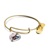 Soufeel Heart/Oval/Circle Photo Charm Bangle 14K Gold-Plated/ Special Alloy