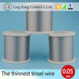 China manufacturer competitive price 0.10mm tin plated copper foil wire for rabot cables