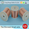 Tin copper alloy tinsel wire