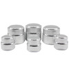 Silver aluminum cosmetic packaging jar