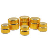 gold cosmetic packaging cosmetic jar aluminum cream jar