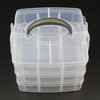 Plastic Jewelry Box Compartment Collection Storage Bracelet Ring Necklace Earring Display Jewellery Case