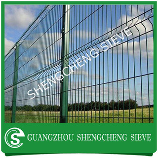 Green Vinyl Coated Welded Wire 3d Mesh Fence Panels