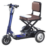 China cheap foldable electric tricycle adults, folding 3 wheel electric tricycle with lithium battery(MS-013)