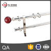 round finial glass curtain rod