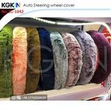 KINGE Car Accessories Fur Steering Covers