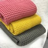 100 acrylic knitted blanket with plain style for daily