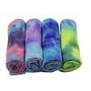 tie dye yoga towel