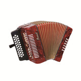 Parrot 31 Button 12 Bass Diatonic  Accordion With Case