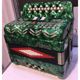 Parrot 34 Button 12 Bass Diatonic Accordion With Case And Straps