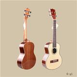 wholesale baby wooden toy guitar, genuine wooden guitar/ukulele for children