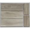 4''x12'' subway marble tile light wooden vein mosaic