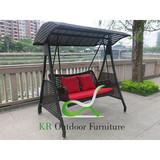 2-seats Wicker Swing Chair Patio Swings