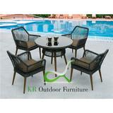 Latest Outdoor Dining Set Wicker Garden Dining Furniture