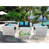 Outdoor Wicker Sofa Set Garden Cane Furniture