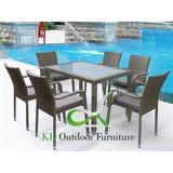 7-pieces Outdoor Dining Set Wicker Garden Dining Set