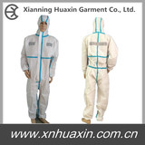 Highly visible coverall with taped seam