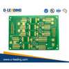 4-layer printed circuit board with selective hard gold coating 50 Micro Inch (1.25 micrometers)
