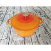 Cast iron enamel casserole pot