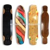 2017 new design bamboo longboard with carbon fiber longboard deck