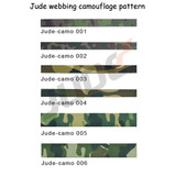 Different patterns of camo webbing