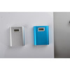 High Quality Metal Case Portable Battery LCD Display Power Bank 10000mah CE/FCC/Rohs battery dual outputs Gift charging
