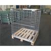 Steel galvaniezed wire mesh container with woodden pallet