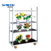 Metal plant trolley greenhouse cart