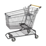 180L American escalator unfoldable metal shopping trolley