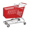 200L plastic material hand push supermarket shopping trolley