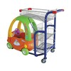 Cheap supermarket grocery shopping trolley with child seats