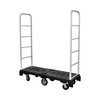 warehouse supermarket folding rolling steel step platform ladder trolley