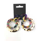 plastic resin earring for imitation jewelry