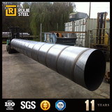 coated api 5l spiral welded steel pipe carbon steel black spiral tube astm a252 spiral welded steel tube