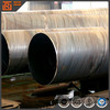 Hot rolled spiral welded steel pipe, spiral seam welded 20 inch steel pipe,welded beveled edge round steel pipe