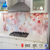 Customized photographs print on glass splashback designs
