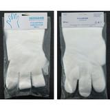 PE glove with block header