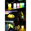 LED solar silicone camping water bottle & lantern