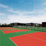 Athletic Court Silicone PU Sports Flooring For Basketball / Tennis Court